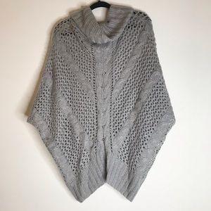 BCBG Maxaziraw Sweater Cowl Poncho Cape S / M
